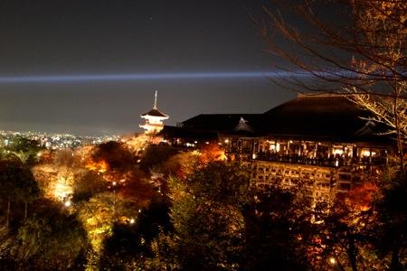 京都の夜景の写真